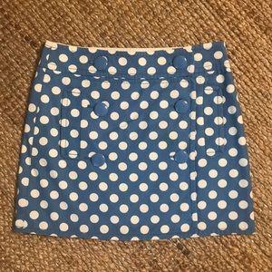 J Crew polka dot skirt!!